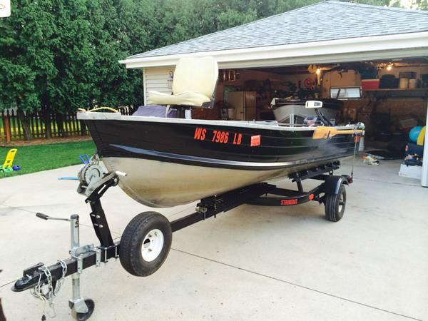Custom 14 39 deep v aluminum fishing boat 14 foot for Used aluminum fishing boats for sale in michigan