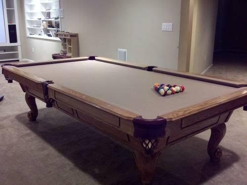 Custom Ft Solid Oak Pool Table With TONS Of Accessories For Sale - Pool table stores in maryland