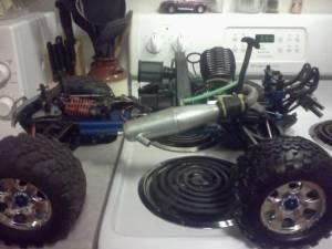 Custom Big Block Revo RC Truck - $1 missoula