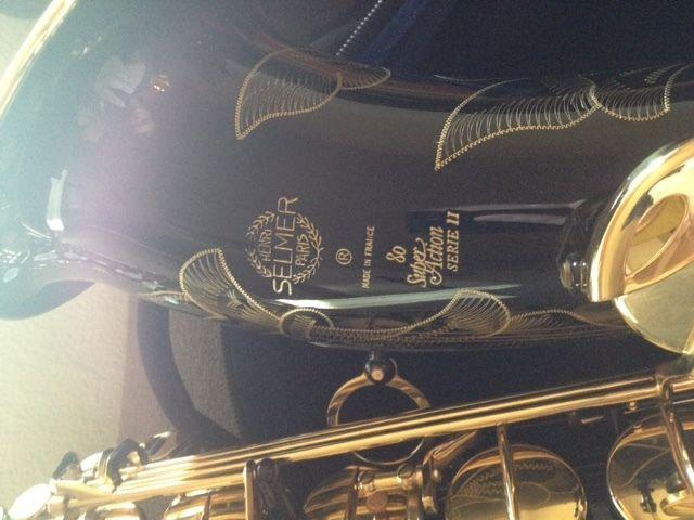 Custom Black  Gold Selmer Paris super 80 series ii Tenor Saxophone