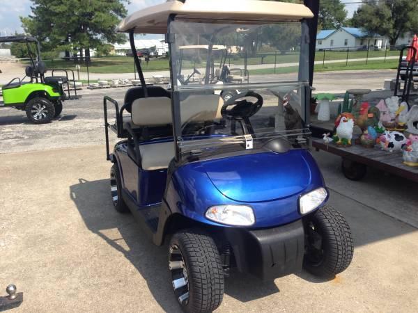 Custom Blue 48 Volt 2010 Ezgo Rxv 4 Passenger Golf Cart
