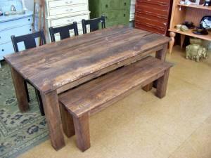 Custom Built 6ft Farm Table Dining Room Set 5pcs 495