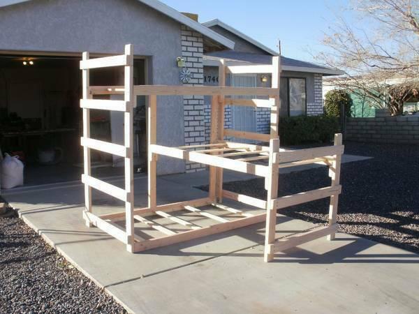 Custom built bunk beds for sale in kingman arizona for Custom built in bunk beds