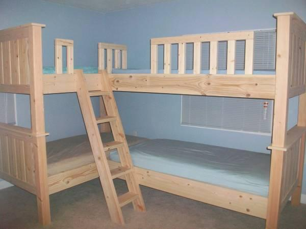 Custom Built Quad Bunk Bed - for Sale in Rockford, Michigan Classified ...