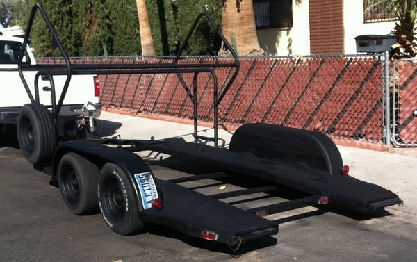 Custom Built Race Car Carrier Trailer Tire Racks Winch Etc For Sale In Las Vegas Nevada