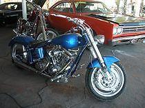 CUSTOM CHOPPER HARLEY DAVIDSON BLUE