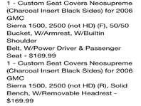 Custom Coverking Neosupreme Seat Covers for GMC Truck