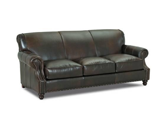 Custom Fabric Cowhide Leather Sofas With Nailhead