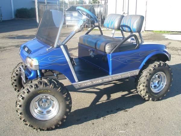 Custom Golf Cart Liftedcustom Paint For Sale In Sacramento