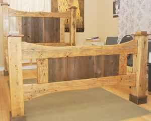 Custom Handmade Barnwood Queen Bed Delavan USA for