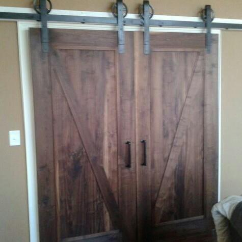 Custom Interior Barn Door Weathered Rustic Fine Finish Walnut Oak Ash Any Style
