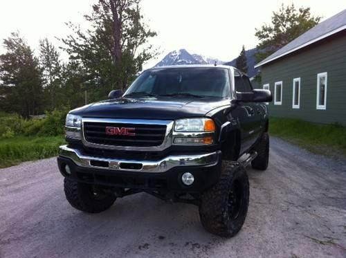 custom lifted 2006 gmc sierra 4x4 duramax low miles for sale in babb montana classified. Black Bedroom Furniture Sets. Home Design Ideas