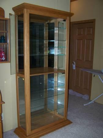 Custom Made Curio Cabinet $200   $200