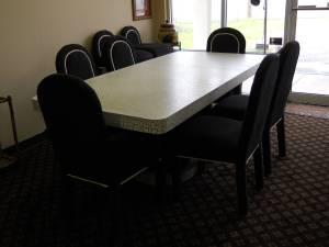 Custom Made Dining Table W/ Leaf And 6 Chairs   $660