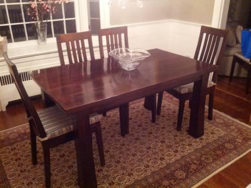 Custom Made Kitchen Dining Room Table 6 Chairs For Sale In Riverside