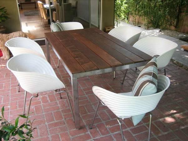 Custom Made Steel Wood Outdoor Furniture For Sale In Los