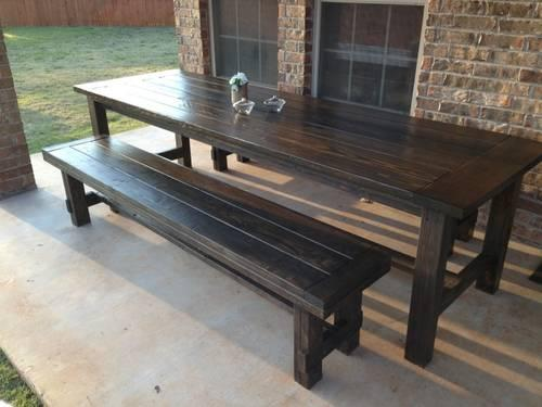 barn style table w benches dining table for sale in yukon oklahoma