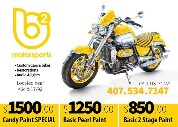 Custom paint jobs at basic prices