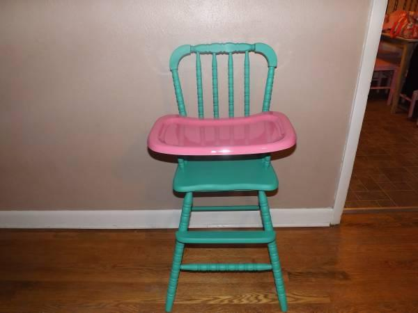 "Custom Painted ""Jenny Lind""Wooden High Chair for Sale in"