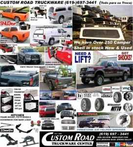 Custom road Truck accessories and Equipment. New & used Camper shells (San Diego \/ Spring Valley