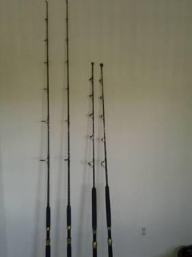 Custom Sam Scott Fishing Rods 2 Trolling 2 Standup For