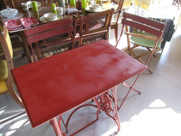 Custom Sewing Table With Two Bistro Chairs 2512 N