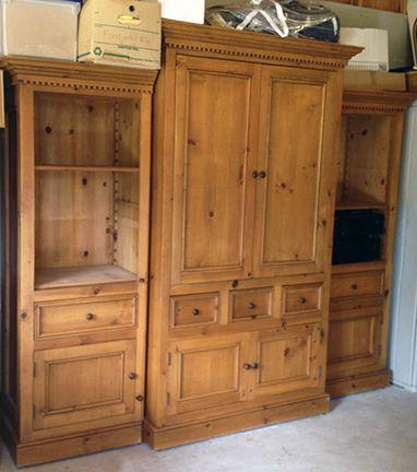 Custom Made Solid Wood Entertainment Center Price Lowered