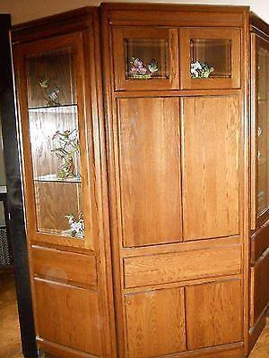 CustomMade Wood/Glass Hutch/Workstation w/Lights