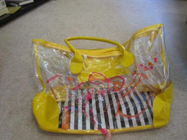Cute clear tote from DSW shoes!