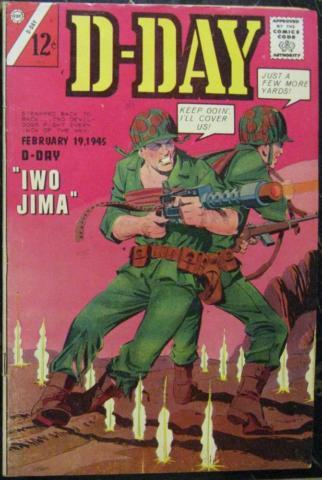D-DAY# 2 Fall 1964 Wally Wood Art Charlton Silver Age