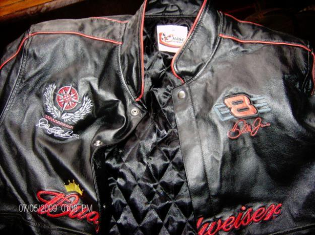DALE Earnhard Jr,8 RARE-Never worn Chase Authntics Leather jacket