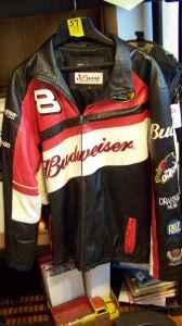 DALE EARNHARDT JR.  BUDWEISER LEATHER NEXTEL RACING JACKET - $65 ALBANY