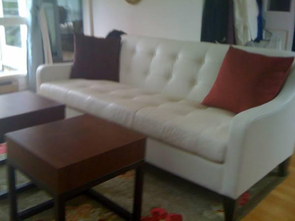 Remarkable Dania Petite Leather Couch 73 Long For Sale In East Cjindustries Chair Design For Home Cjindustriesco