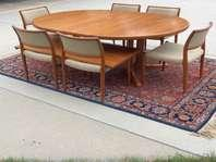 Danish Modern Solid Teak Dining Table AM With JL Moller Model - Solid teak dining table for sale