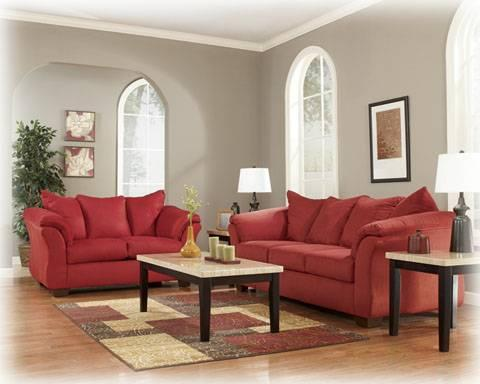 Darcy Salsa Sofa And Loveseat, Ashley Furniture Free