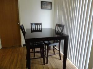 dark brown kitchen table and chairs fort drum for sale in watertown