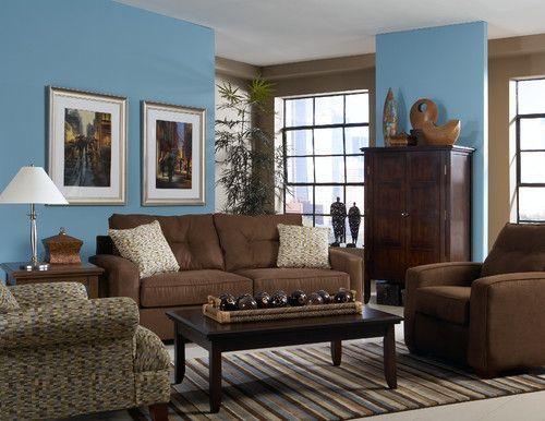 Dark Brown Microfiber Sofa U0026 Chair Set   $499