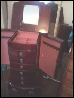 Dark Cherry Jewelry Armoire