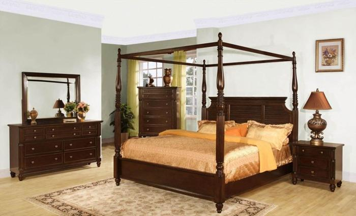 dark wood 8 pc bedroom set w canopy bed new mt pleasant