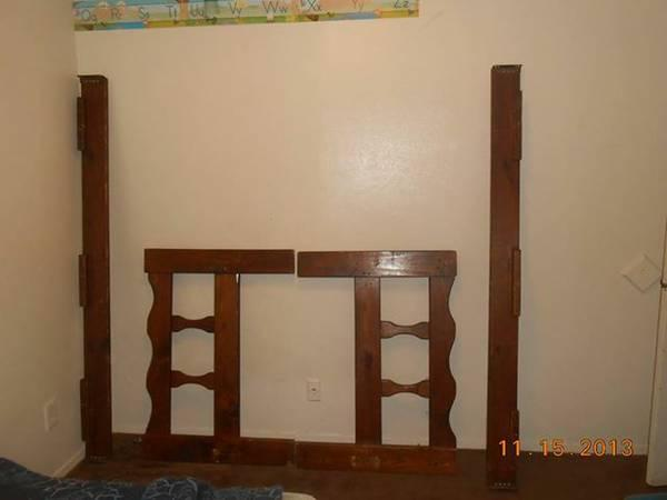 Dark wood bunk bed set or 2 twin beds for sale in for 2 twin beds for sale