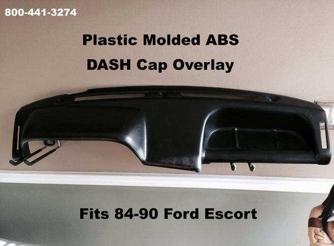Dash Cap Overlay Plastic Hard Cover Fits Ford Escort