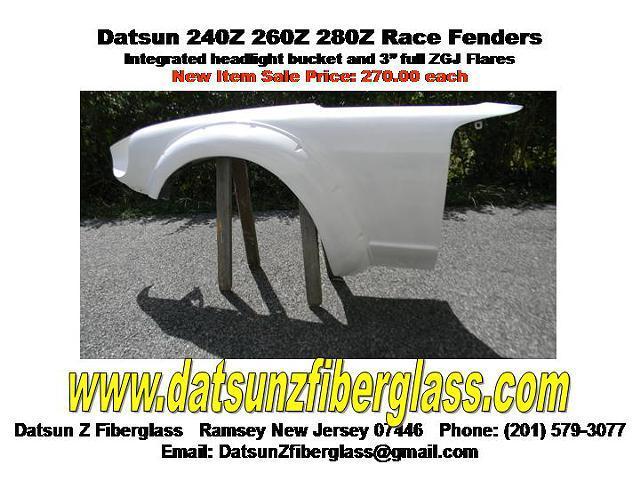 Datsun Z Z Z Race Car Fenders W Integrated Flare Headlight Bezel Fiberglass Americanlisted on 240z Hood