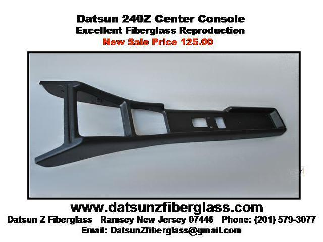 Datsun 240Z Center Console – NEW