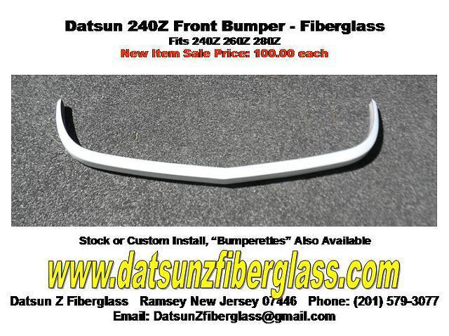 Datsun 240Z Front Bumper- Fiberglass