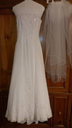 David S Bridal Wedding Dress Slip Bra Veil 300