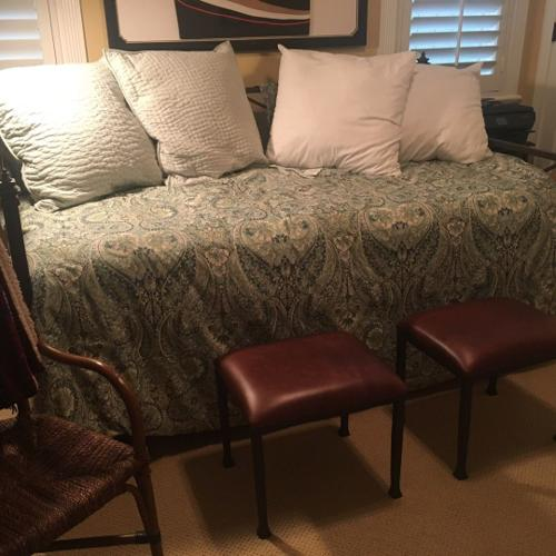 Day bed for sale with mattresses and bedding.
