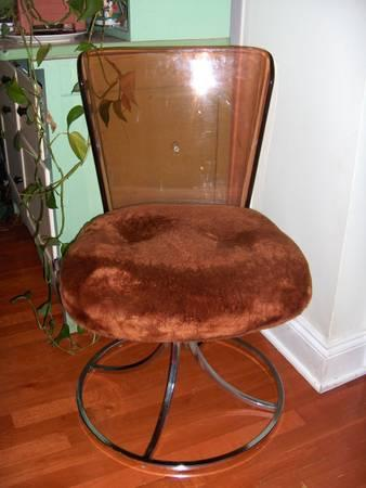 Daystrom Furniture Va Modern 1972 Acrylic Chair Faux Fur