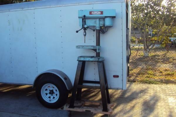 Dayton Drill Press With Heavy Duty Metal Stand For Sale In