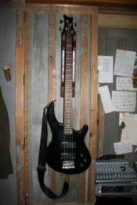 Dean Edge 4 String Bass Guitar, Cable, and Stand - $120