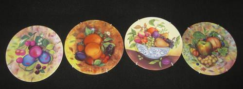 Decorative Plates 1855 Email de Limoges GodiStill Life & Decorative Plates 1855 Email de Limoges GodiStill Life Fruit Set of ...
